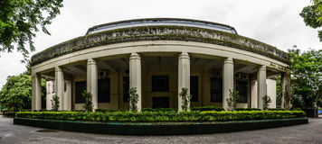Beside entrance of Convocation Hall in Yangon University, Myanmar, June-2017 Royalty Free Stock Photography