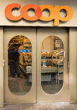 Entrance of the Coop department store Stock Photos