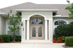 Entrance with Coral Door stock photography