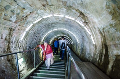 Entrance corridor in the salt mine Turda, Cluj, Ro Stock Image