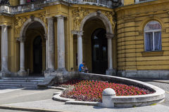 Entrance at Croatian National Theatre Royalty Free Stock Photography