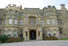 The entrance of Croft Castle in Yarpole, England, Europe Royalty Free Stock Photo