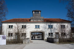 Entrance of Dachau concentration camp Stock Image