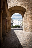 Entrance in Dalt Villa. At the gates of Dalt Villa, Eivissa, Island of Ibiza royalty free stock image