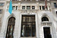 entrance det huvudnya lagret som är tiffany till york Royaltyfri Bild