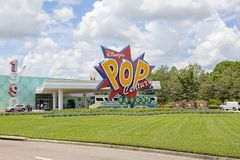 Disney`s Pop Century Resort. The entrance of Disney`s Pop Century Resort in Lake Buena Vista, Florida stock photo