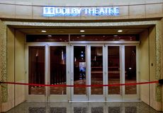 Entrance of dolby theater in hollywood stock photography