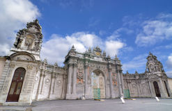 Entrance of Dolmabahce Palace, Istanbul, Turkey. Beautiful example to late Ottoman architecture and stone work Stock Photography