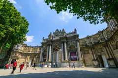 The entrance of Dolmabahche palace, Istanbul, Turkey Royalty Free Stock Photo