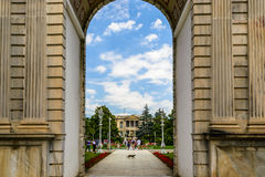 The entrance of Dolmabahche palace, Istanbul, Turkey Stock Photo