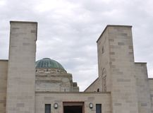 The entrance and the dome of the Australian War Memorial Stock Photography