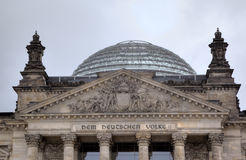 Entrance and Dome of Reichstag. Berlin Royalty Free Stock Photos