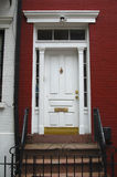 Entrance door 2. Entrance door to one of the houses of Greenwich Village in New York Royalty Free Stock Photos