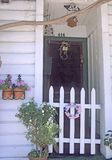 Entrance door. To cottage in historic mining town, northern California Royalty Free Stock Photography
