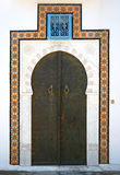 Entrance door. The entrance door made in national traditions of Tunis Stock Image