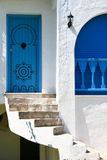 Entrance door. The entrance door made in national traditions of Tunis Stock Photo