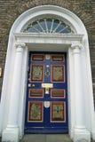 Entrance door. Old artful entrance door of an irish house royalty free stock photography