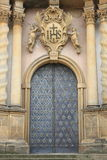 Entrance door of a baroque style church Royalty Free Stock Photo