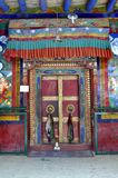 Entrance door of a Buddhist temple Royalty Free Stock Photography