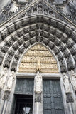 Entrance Door Cathedral Cologne Royalty Free Stock Image