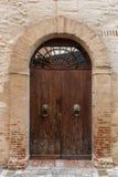 Entrance door in the center of Santarcangelo di Romagna, Italy. An entrance door in the old town of Santarcangelo di Romagna, Italy stock images