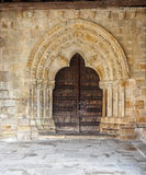 Entrance door at church Stock Images