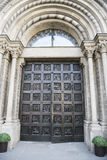 Entrance Door Church Grossmunster, Zurich Stock Photos