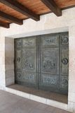 Entrance door of The Church of the Multiplication Stock Images
