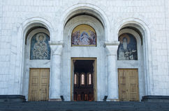 Entrance door of the Church of the St. Sava in Belgrade Stock Photo
