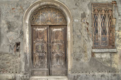 Entrance door in Comacchio is a town in Emilia Romagna (Italy). Door in Comacchio is a town in Emilia Romagna (Italy), located on the river Po delta Royalty Free Stock Photography