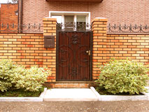Entrance door in the courtyard Stock Image