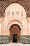 Entrance door decoration in Marrakech, Morocco royalty free stock photo