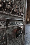 Entrance door detail at Castel Nuovo, Naples Italy Royalty Free Stock Photos