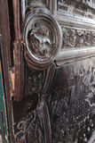 Entrance door detail at Castel Nuovo, Naples Italy Stock Image