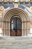 Entrance door of the Dormition Cathedral Stock Image