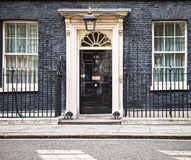 Entrance door of 10 Downing Street in London Royalty Free Stock Photo