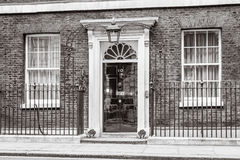 Entrance door of 10 Downing Street in London Stock Photography