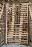 Entrance door of dry bamboo Stock Photography