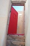 Entrance door in Emporio, Santorini, Greece Royalty Free Stock Image