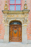 Entrance door in Gdansk, Poland. Stock Photography