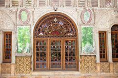 Entrance door  of Golestan  palace, Tehran. Entrance door of Golestan  palace in Tehran, Iran Royalty Free Stock Images