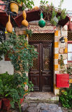 Entrance door, Greece Royalty Free Stock Photography