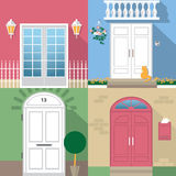 Entrance door illustration Royalty Free Stock Photo