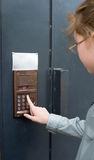 Entrance door intercom Stock Images