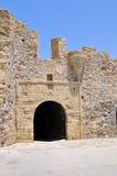 The entrance door from monemvasia, greece Stock Images