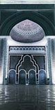 Entrance door of the mosque with arrow pointer royalty free stock images