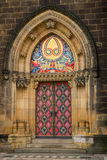 Entrance door of the neo-Gothic Saint Peter and Paul Cathedral. Entrance door of the neo-Gothic Saint Peter and Paul Cathedral in Vysehrad fortress. Prague Royalty Free Stock Image