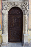 The entrance door of the Old Church Royalty Free Stock Photos