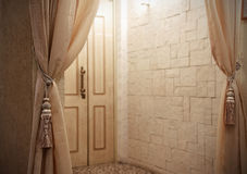 Entrance door in a room Stock Images