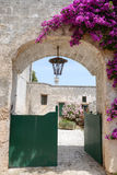 Entrance door of a rural house on Puglia Royalty Free Stock Images